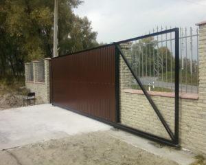 Ворота раздвижные откатные в Чехове