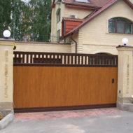 Откатные ворота в Чехове